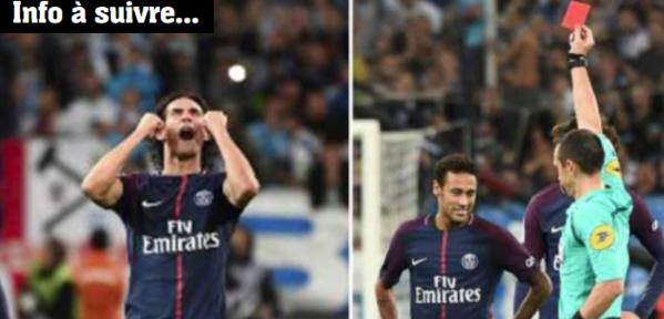 LIGUE 1 - 10e Journée: Le PSG arrache le nul à Marseille, Neymar exclu