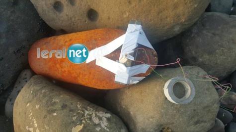 Photos : Découverte d'un obus de 400 kg en face de l'Ambassade du Mali, sur la Corniche Ouest