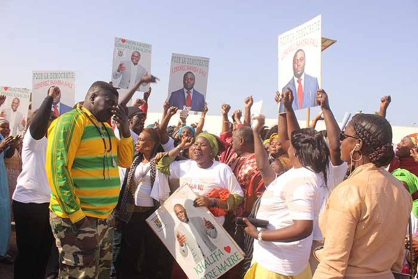Pour la libération du maire de Dakar, les jeunes de Khalifa Sall manifestent à la Medina, aujourd'hui