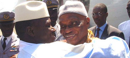 Me Wade fêté à Banjul