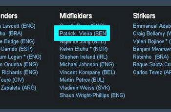 Patrick Vieira est né à Dakar au Sénégal mais a bel et bien la nationalité française. Photo © Site Internet de Manchester City