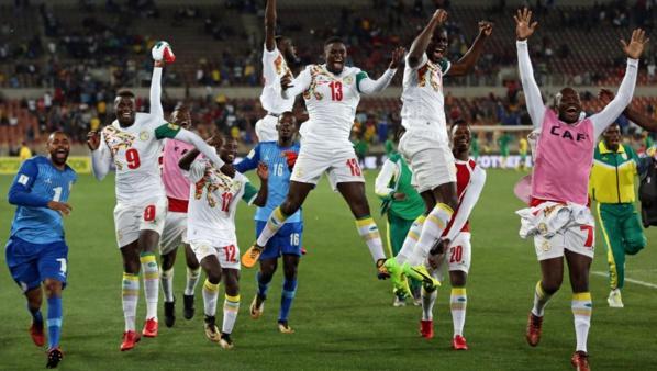 La joie des Lions du Sénégal après leur qualification pour le Mondial 2018 en Russie.