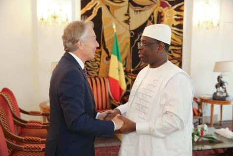 Présidence de la République: le Président Macky Sall a reçu l'ex-Premier ministre britannique Tony Blair (Tweet officiel)