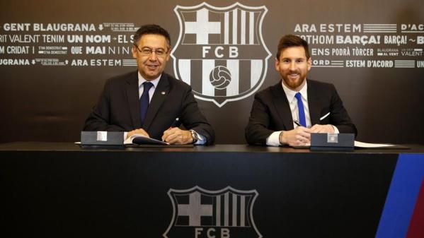Messi prolonge et le Barça fixe une clause de départ ... de 700M€