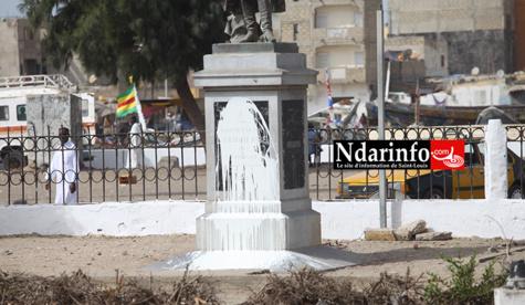 Saint-Louis : la statue de Faidherbe vandalisée (vidéo)