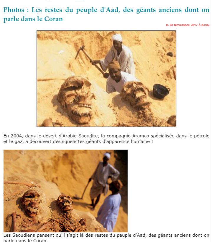 Photos : Les restes du peuple d'Aad, des géants anciens dont on parle dans le Coran