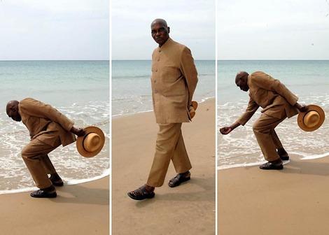 Le président Abdoulaye Wade, plage de Popenguine 2008 par Erick Christian