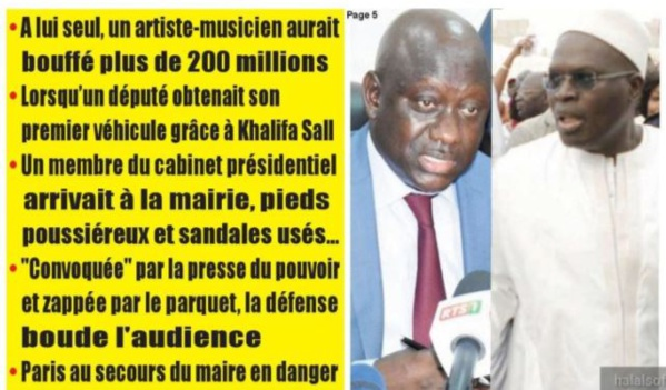Affaire Khalifa Sall : Des patrons de presse, marabouts, politiciens, artistes...tous dans la Caisse d'avance !