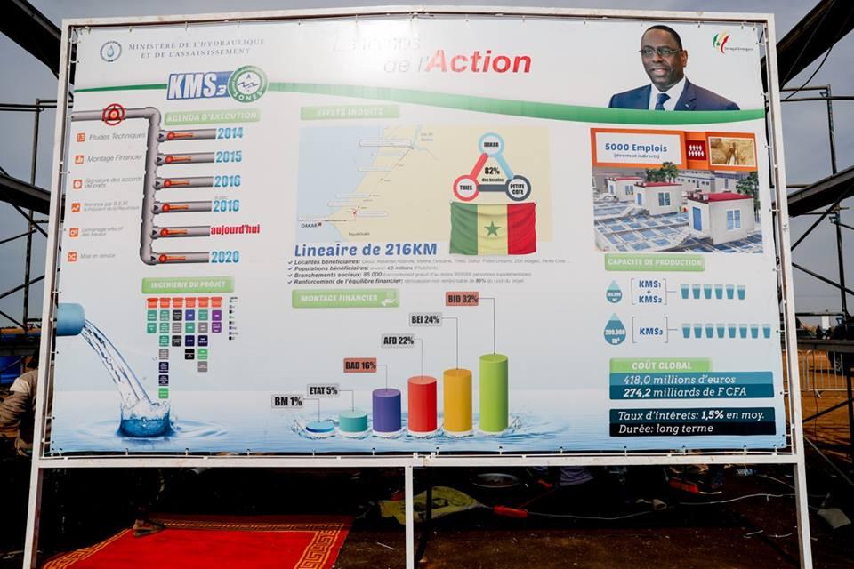 Keur Momar Sarr (KMS 3) : Macky Sall va lancer des travaux de construction de la nouvelle usine d'eau