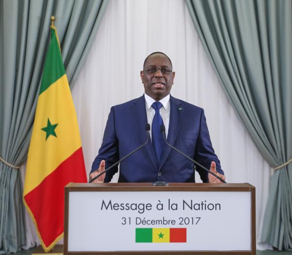 MESSAGE A LA NATION DE SON EXCELLENCE MONSIEUR LE PRESIDENT MACKY SALL A L'OCCASION DU NOUVEL AN