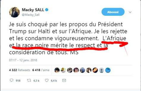 Propos injurieux sur l'Afrique et Haïti: Macky répond à Trump et se fait ridiculiser sur la toile