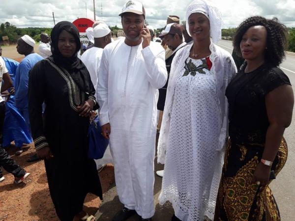 Aminata Diao Baldé en blanc