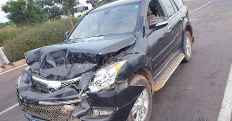 La voiture du président du Conseil National de la Jeunesse victime d'un grave accident …