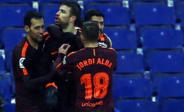 Barça: Piqué explique sa célébration polémique contre l'Espanyol