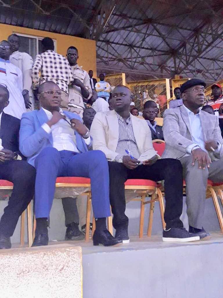 Le maire socialiste de Paos Koto, Aly Mané avec Matar Bâ et Souleymane Ndéné Ndiaye