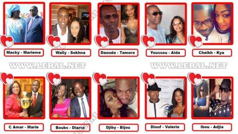Saint Valentin 2018 : les 10 couples Leral.net les plus glamours du Sénégal
