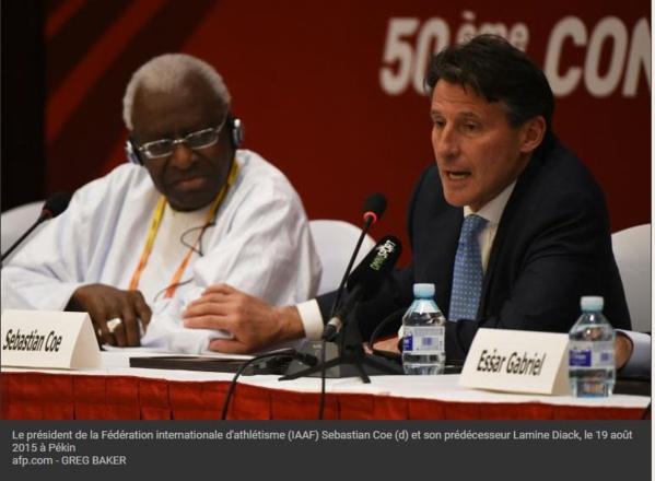 Corruption à l'IAAF: Lamine Diack veut une confrontation avec Coe qui l'accepte