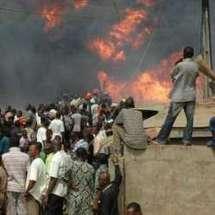 Un grave incendie au marché Thiaroye ferait un mort et des millions de marchandises en fumée