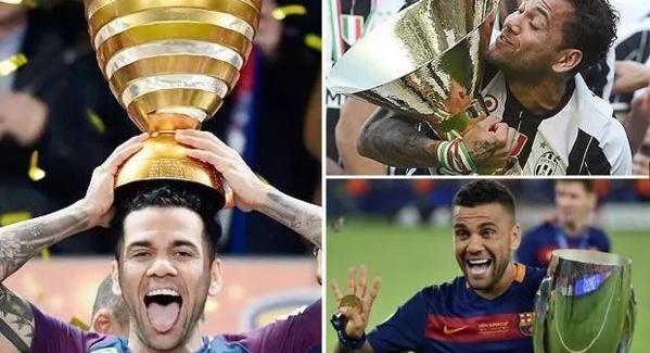 Football : Dani Alves devient le joueur le plus titré de l'histoire (photo)