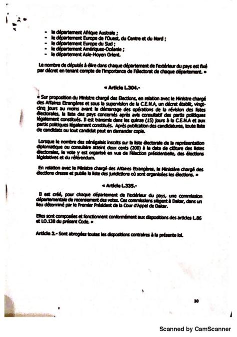 Projet de loi portant modification du Code électoral au sortir du Conseil des ministres du 19 mars 2018