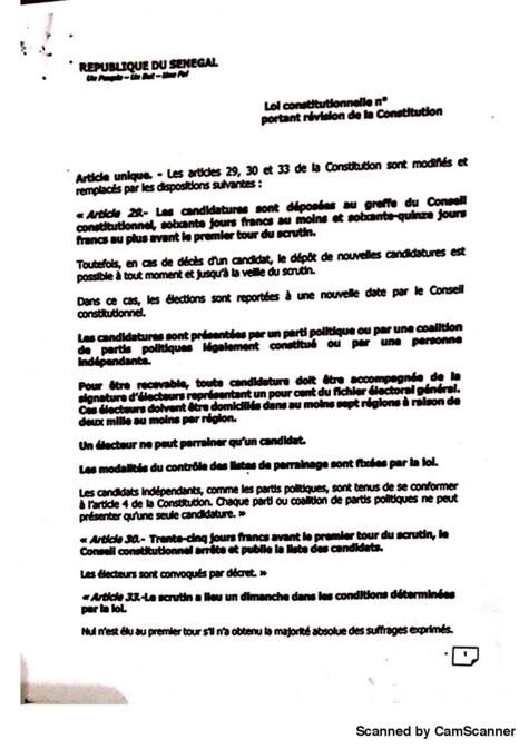 Le projet de loi portant révision de la Constitution à l'issue du Conseil des ministres du 19 mars 2018