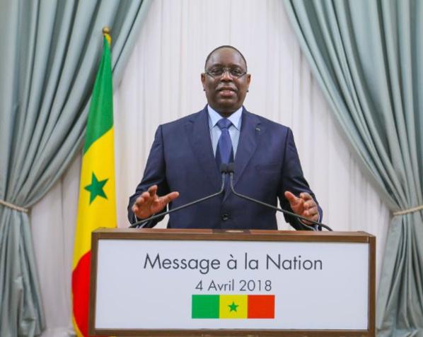 Intégralité du message à la Nation du Président Macky Sall à l'occasion de la fête de l'indépendance