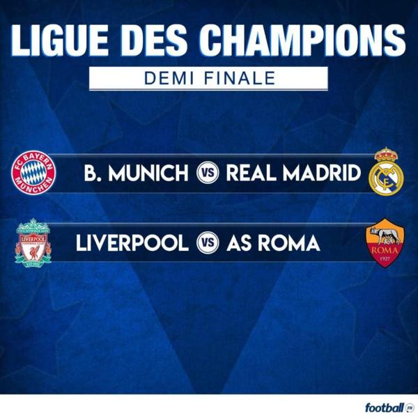 Ligue des champions : Choc Bayern vs Réal Madrid et Liverpool vs Roma