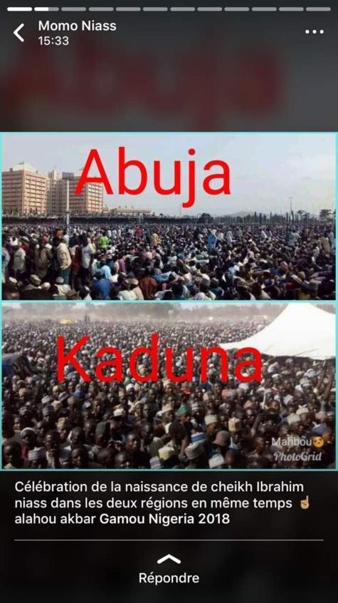 Gamou Nigéria 2018: Deux Régions; Abuja et Kaduna célèbrent la naissance de Cheikh Ibrahima NIASS en même temps.