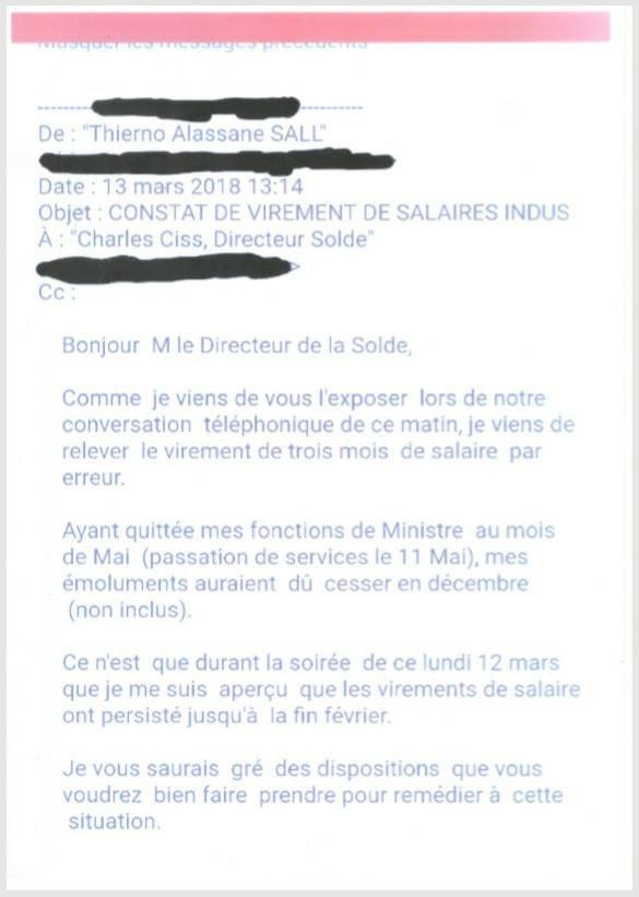 Précisions : Ordre de recette, ce qui s'est réellement passé …(par Thierno Alassane Sall)