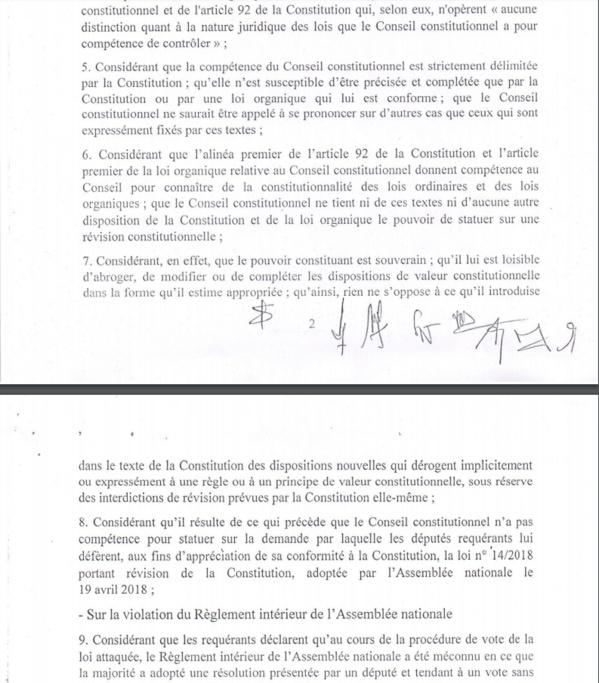 """Recours de l'opposition contre la loi sur le parrainage: Les """"7 sages"""" se déclarent """"incompétents"""""""