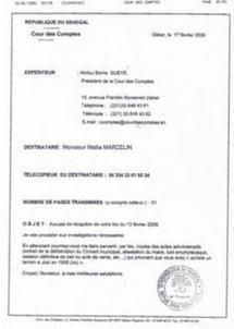 AUDIT : Le Rapport de la Cour des Comptes remis au Président