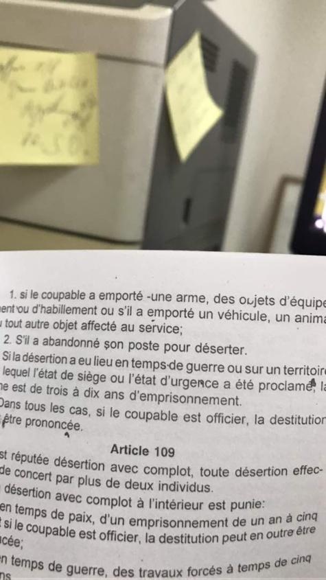 Désertion militaire ou abandon de poste : Le capitaine Mamadou Dièye risque 5 à 10 ans de prison pour