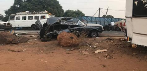 Carnage à Sindia:  3 morts dans un choc entre un camion et une véhicule 4X4