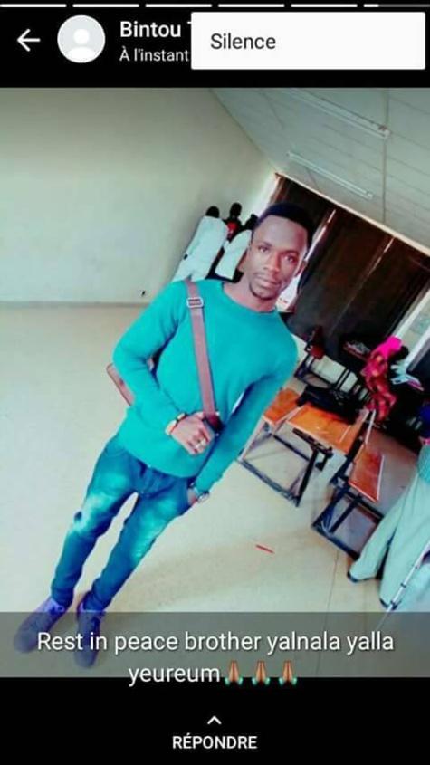Voici Fallou Sène, l'étudiant de l'université de Saint-Louis tué par les forces de l'ordre, aujourd'hui