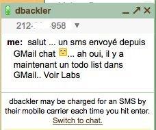 Envoi de SMS gratuit sur Gmail Chat....c'est possible au Sénégal