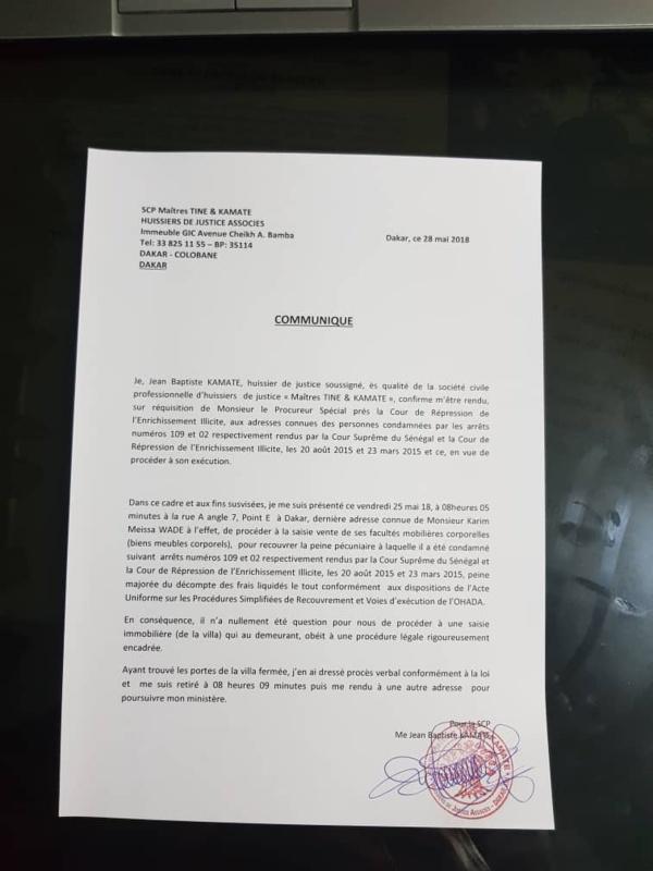 Urgent : L'Etat envoie un commandement de payer à Karim Wade  contrairement au allégation de Abdoulaye Wade.