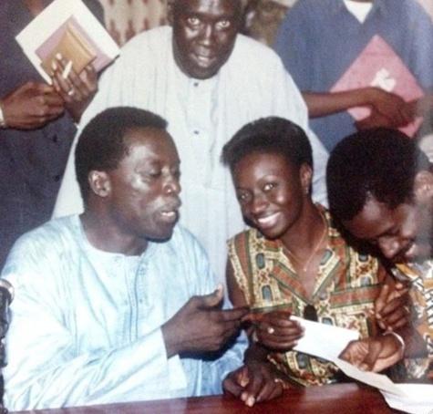 Aminata Touré Mimi avec Landing Savané dans les années 90