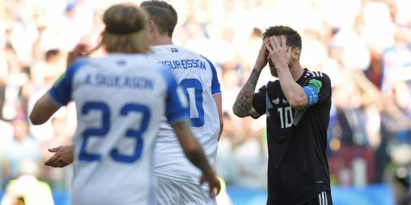 L'Argentine tenu en échec par l'Islande, Messi rate un penalty