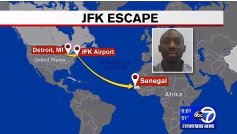 JFK Airport: le Sénégalais qui s'était évadé, est le fils d'un diplomate