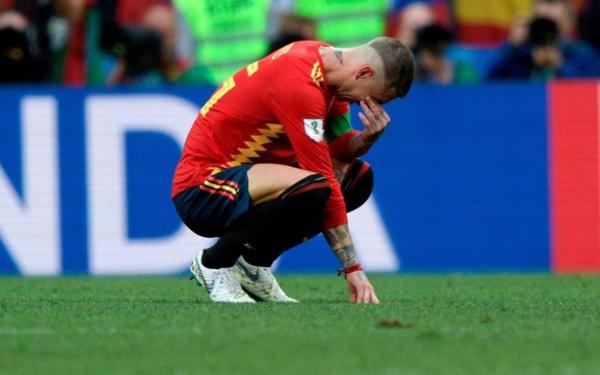 Sergio Ramos en larmes après l'élimination