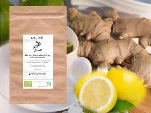 Gingembre et thé vert : pour dégraisser le corps et le ventre surtout!