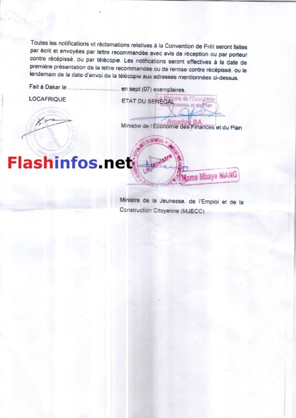 Prodac : Qui sont les signataires de la Convention de Financement et du Contrat de Construction des DAC ?