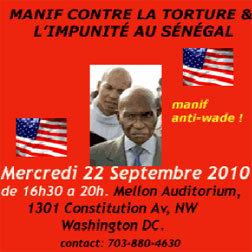 Manif' de la diaspora contre l'impunité au Sénégal : Wade persona non grata à Washington aujourd'hui
