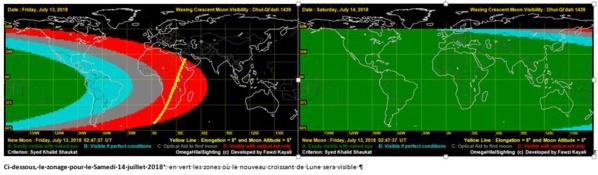 Suivi du calendrier musulman pour Dakar et la Mecque sur la base du calcul astronomique