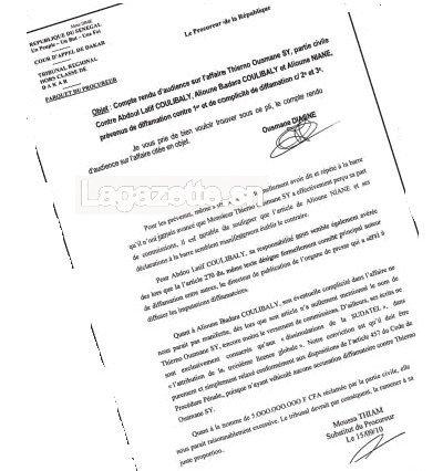 Révélation de La Gazette : Le procureur de la République demande la condamnation du journaliste Abdou Latif Coulibaly (Officiel)