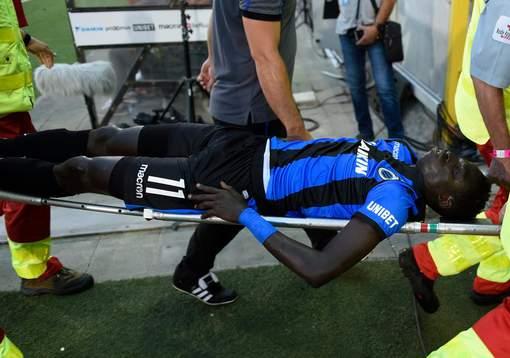 Krepin Diatta victime d'une commotion cérébrale et d'une fracture du poignet après son choc avec Collins Fai