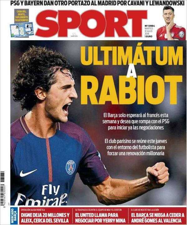 Barcelone met la pression sur Rabiot