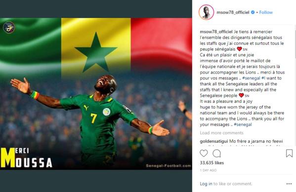 Moussa Sow parle de sa retraite internationale