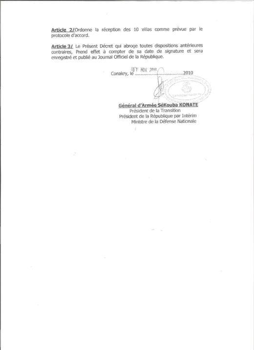 CONAKRY : Le projet de Khalifa Niasse bloqué par Dadis Camara était estimé à 10 milliards de FCfa ( Document )
