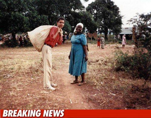 Photo : Barack Obama en vacances chez sa tante au Kenya
